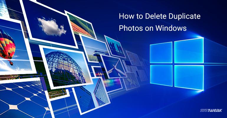how to delete duplicate photos