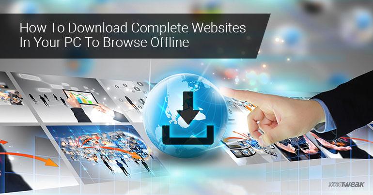 how to download complete website