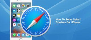 how to solve safari crash on iphone