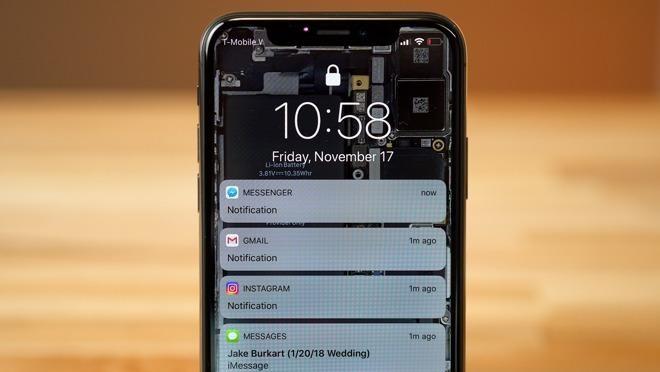 iPhone X hidden notifications