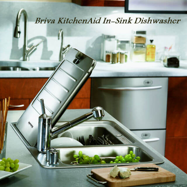 in sink kitchen dishwasher