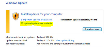 install update for pc