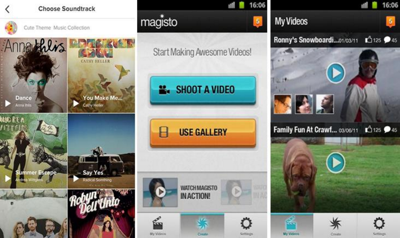 magisto-video-editor on android