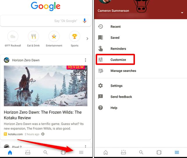 manage google feed