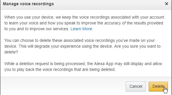 manage voice recording