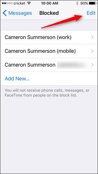 message blocked
