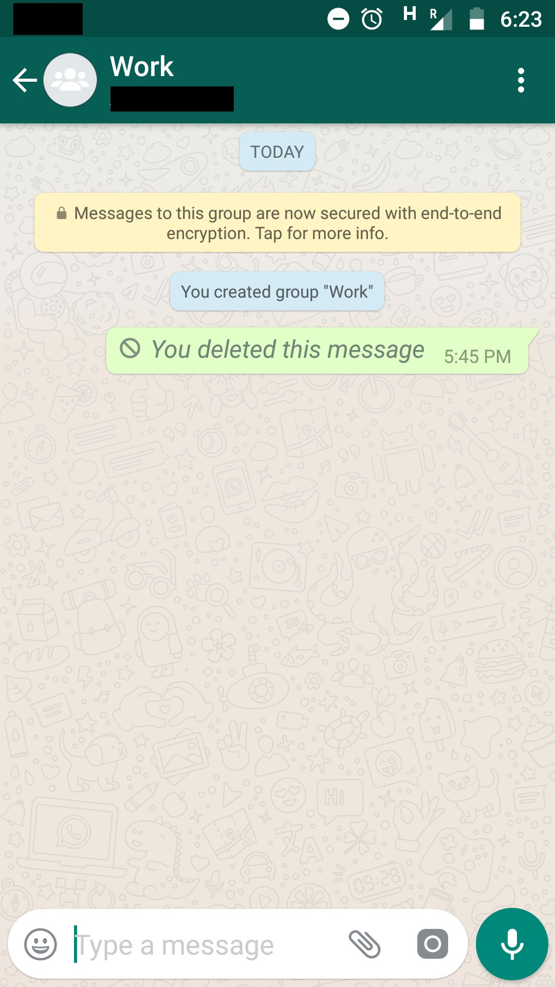 message deleted whatsapp
