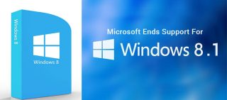 micrsoft end support for windows 8.1