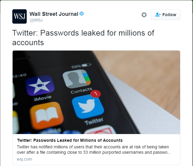 millions of twitter account hacked