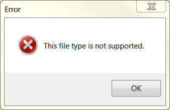 not supported