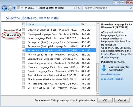 optional update windows 7