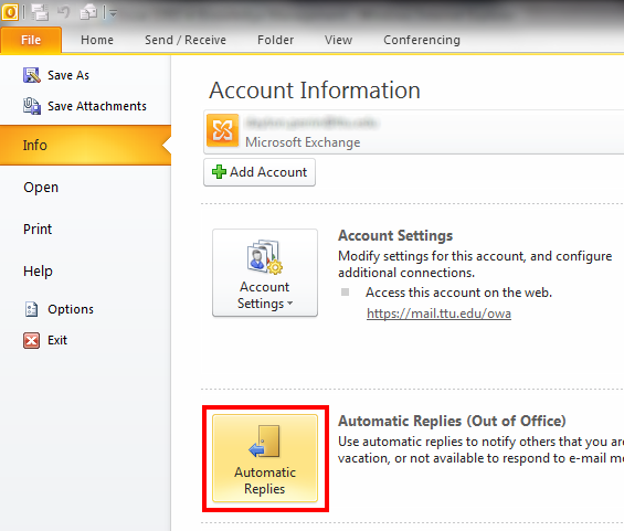 out of office assistant in outlook 365-1