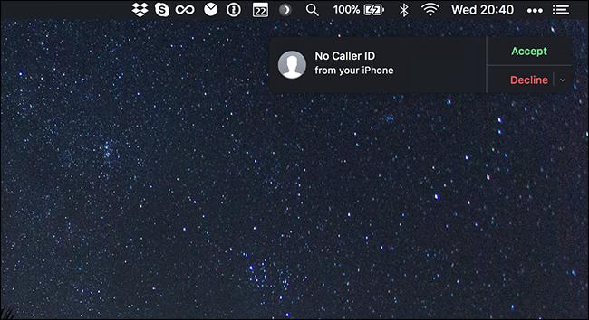 phone call on mac
