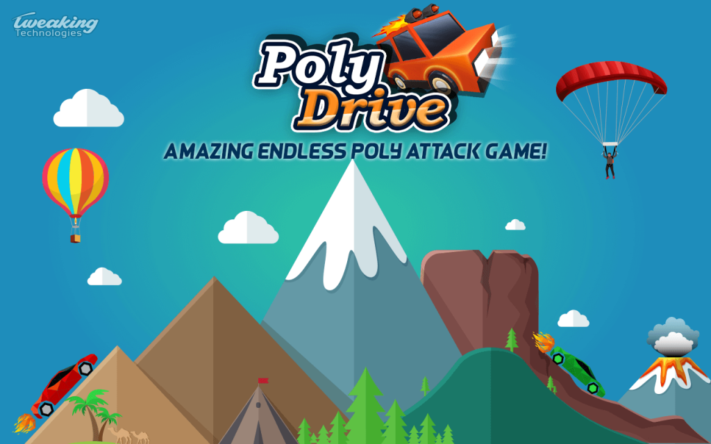 poly drive endless car game for android