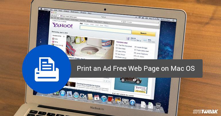 print ad free web page on mac