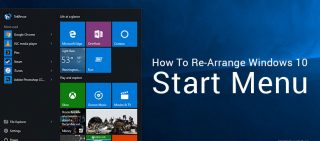 rearrange start menu windows 10