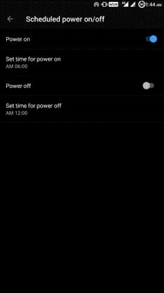 schedule power on off