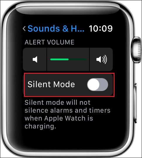 silent mode apple watch