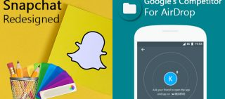 snapchat new app design and google new app files go