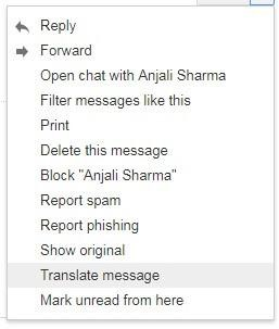 translate email in gmail