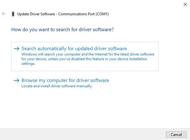 update driver in windows 10