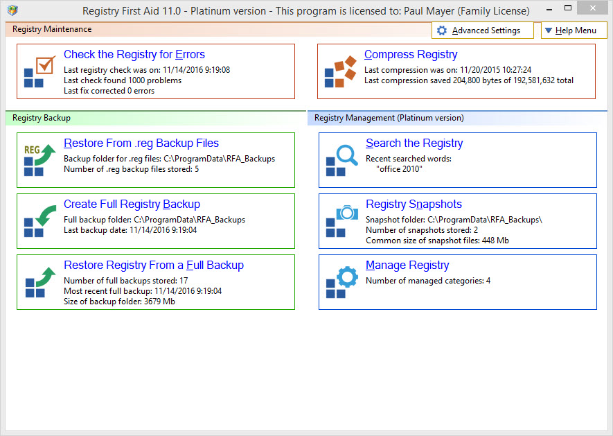 Registry First Aid best registry cleaner software