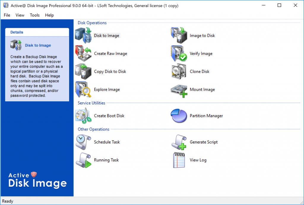 Active at Disk Image
