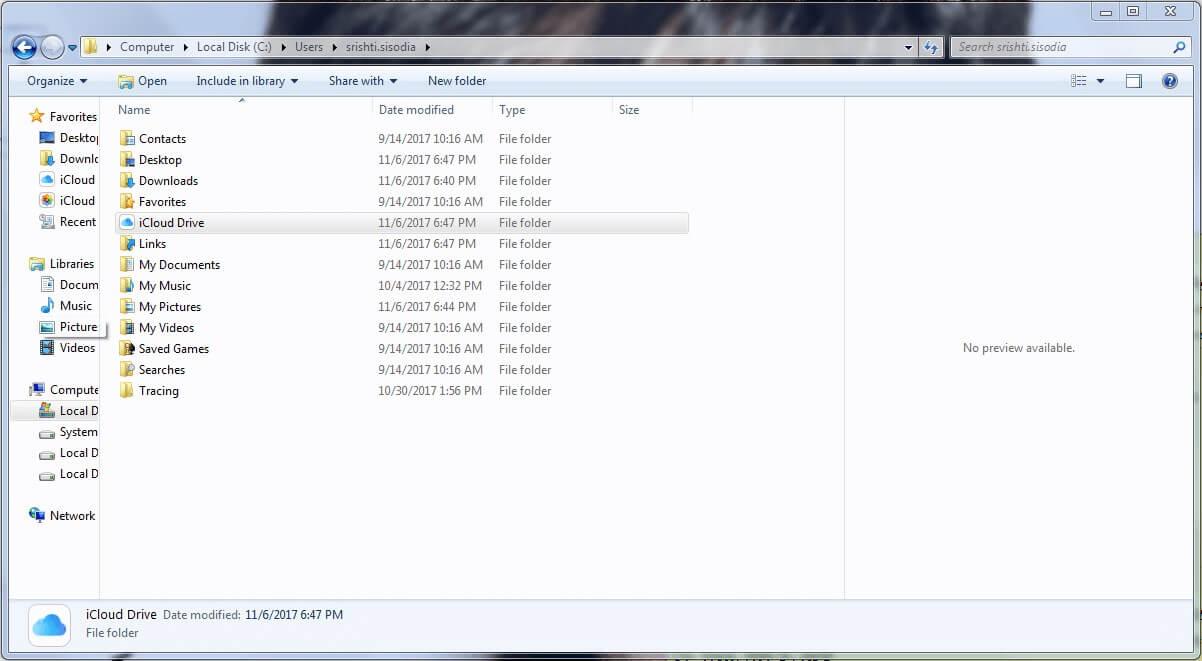 iCloud-drive in windows