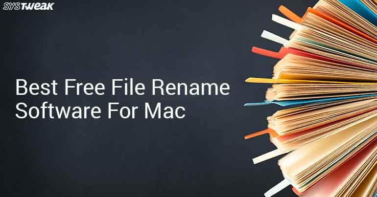 Best Free File Rename Software For Mac
