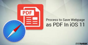 How To Directly Save Webpages As PDF In iOS 11