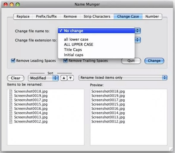 how to change file name with a mac