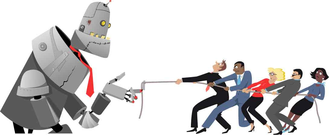 Destroying jobs for human