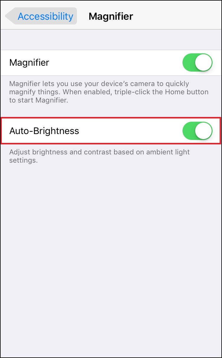 Enable Auto Brightness