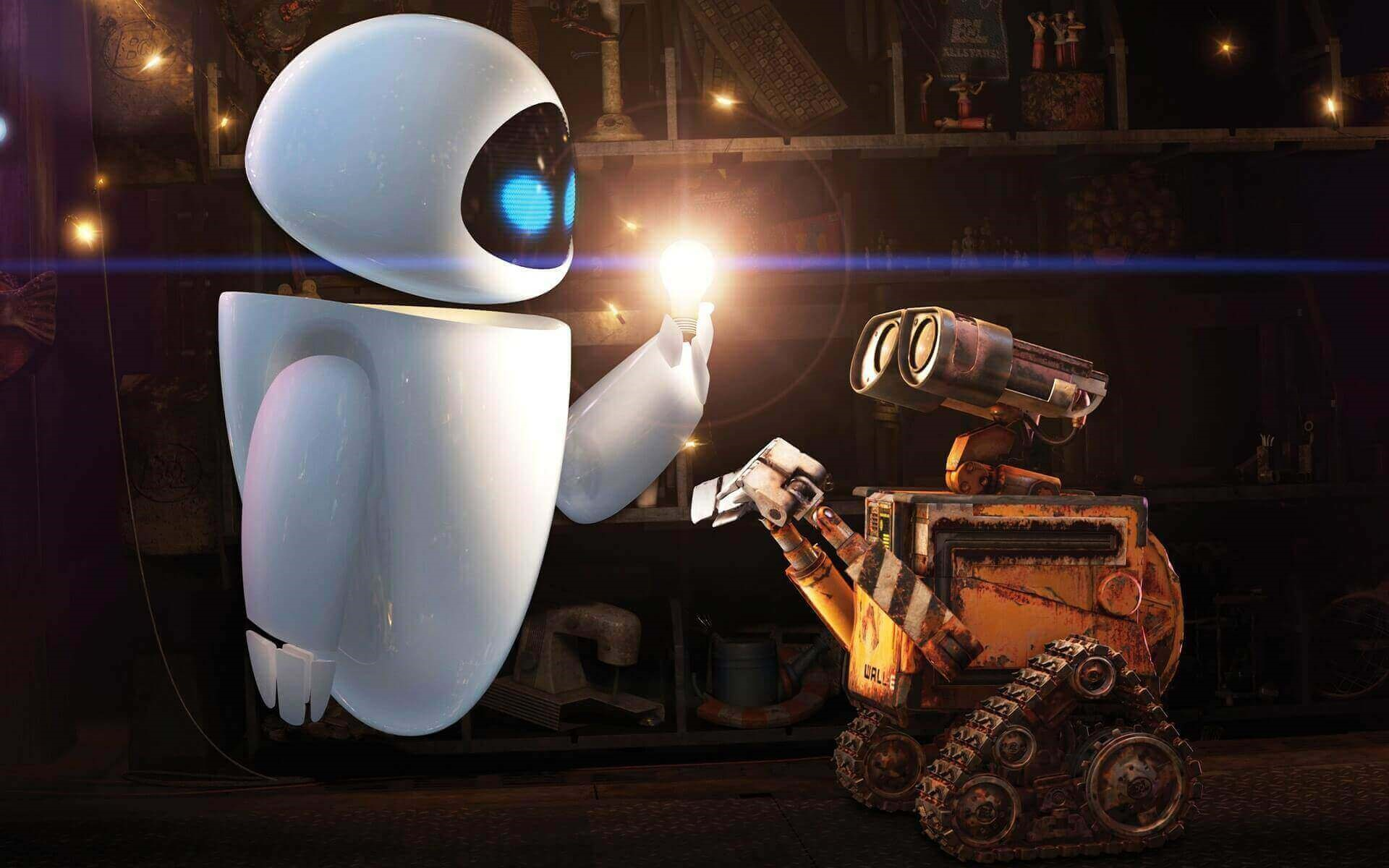 Eve and Wall-E (Wall-E)