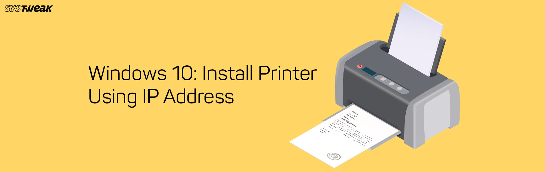 how to install printer via ip address in windows 10