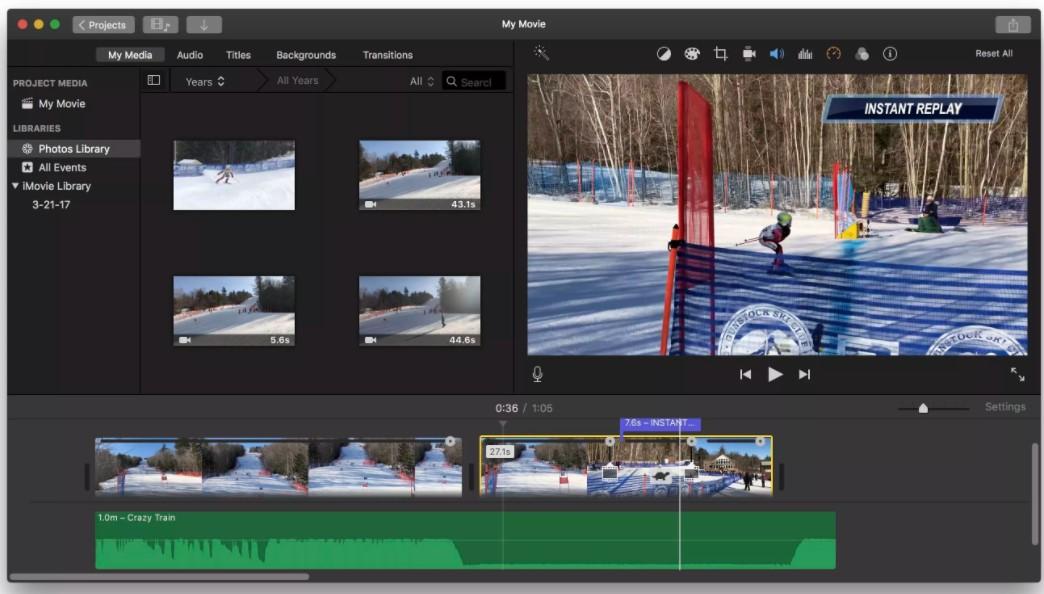 Instant Replays iMovie