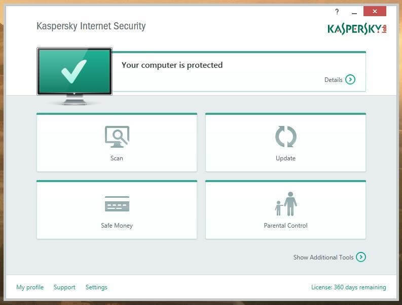 Kaspersky Internet Security- malware remover software