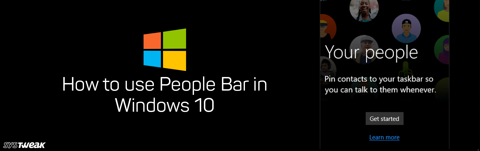 How to Use People Bar in Windows 10