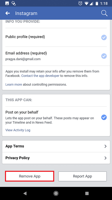 Remove Pre-existing Instagram Posts from Facebook