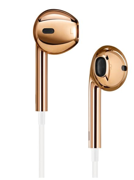 Solid Rose gold apple earpods