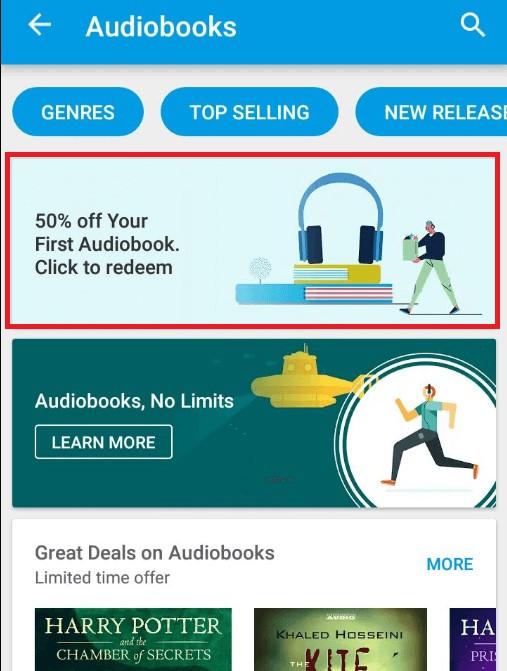 google audiobook banner