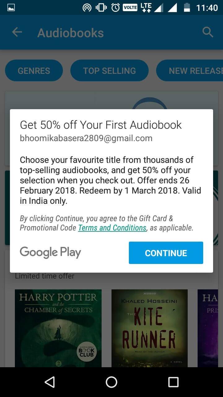 google audiobook discount