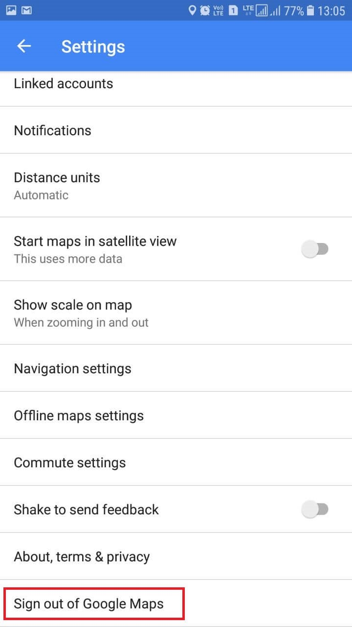 google map settings