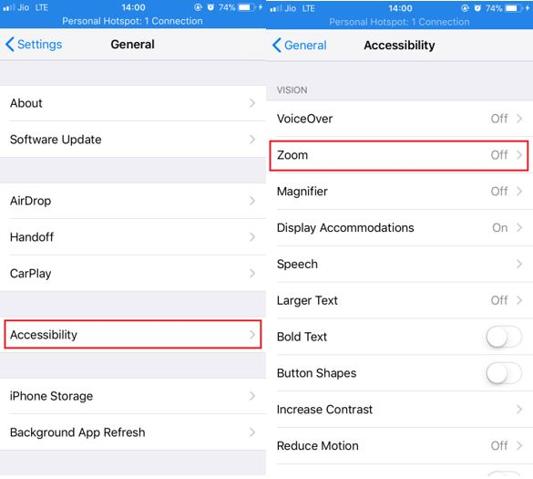 iPhone general accessibility