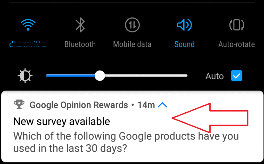 new survey avaiable on opinion reward app