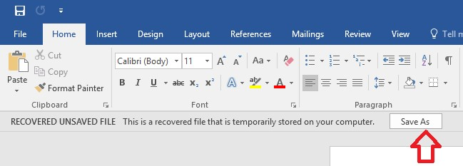save document word