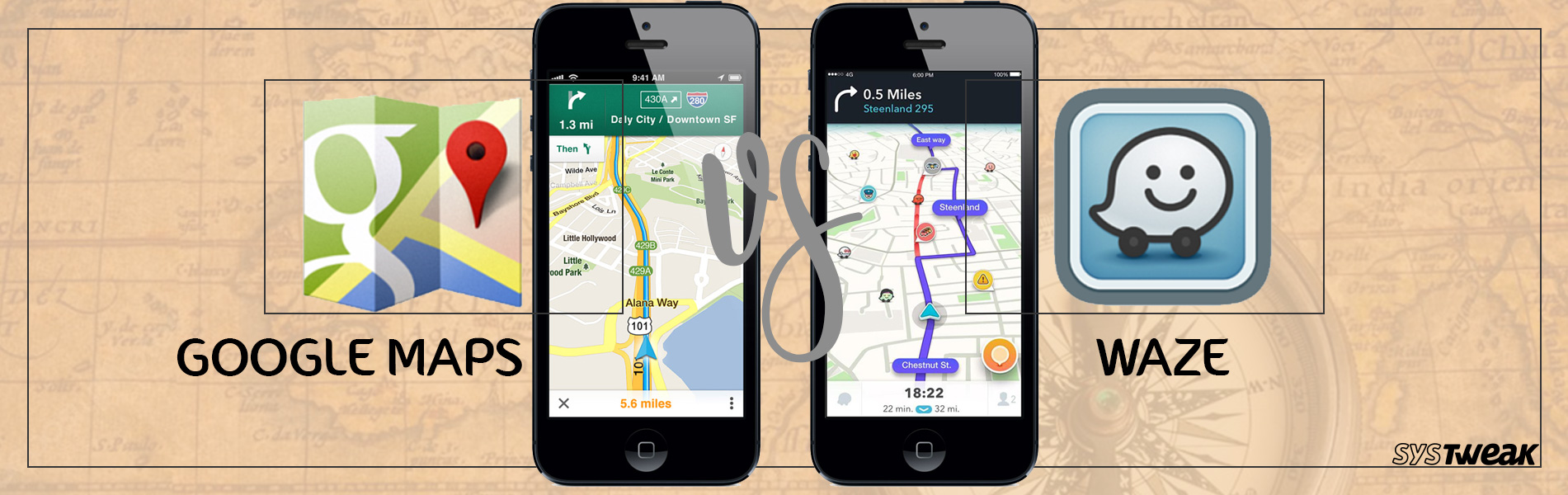 Waze Vs Google Maps! War of the Navigators