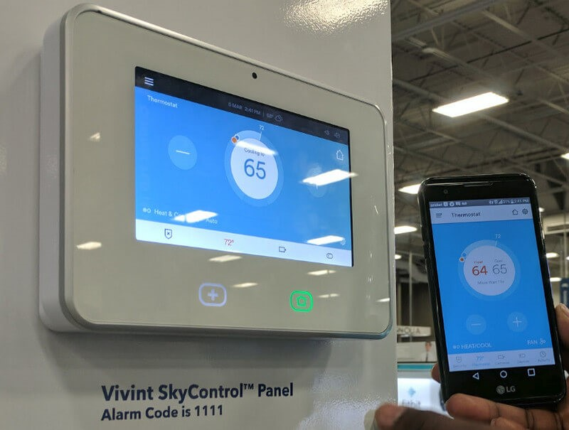 vivint skycontrol panel home security application