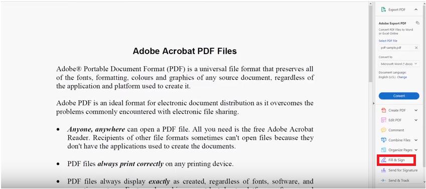 Adobe PDf use
