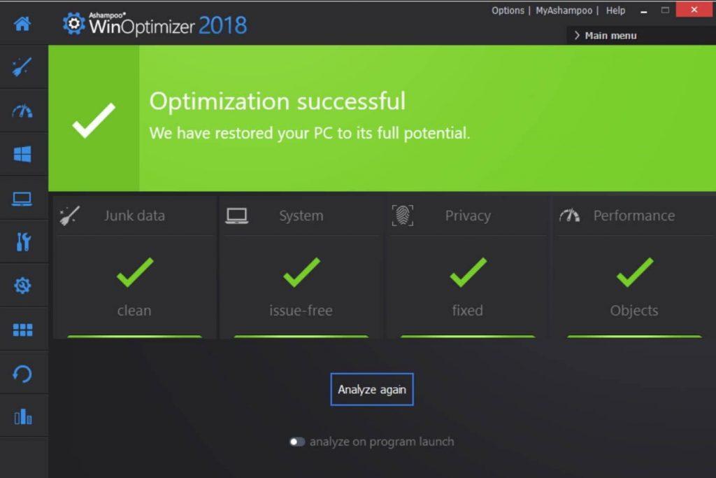Ashampoo Win Optimizer- RAM booster